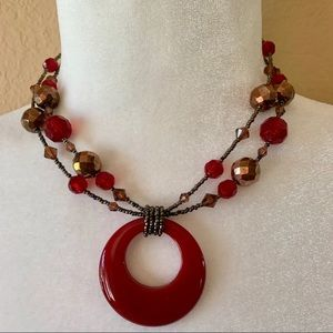 NWOT Lia Sophia Retired Cinnabar Necklace